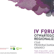 IV Forum Otwartego Regionalizmu